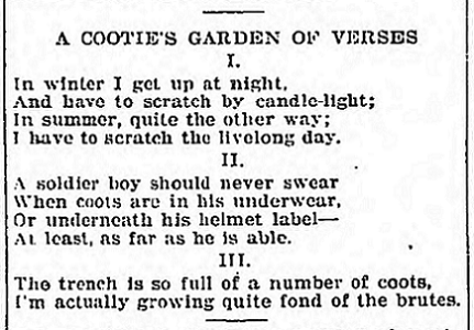 Cooties - April 26 1918