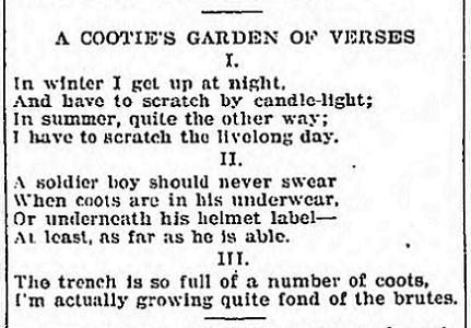 Cooties - April 26 1918