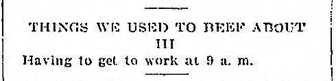 Things We Used To Beef About - May 3 1918