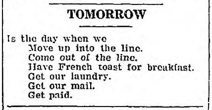 Tomorrow - May 3 1918