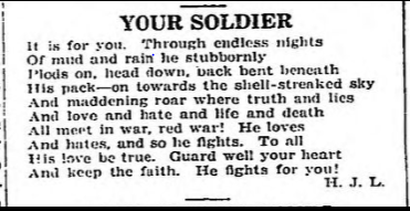 Your Soldier - November 22 1918